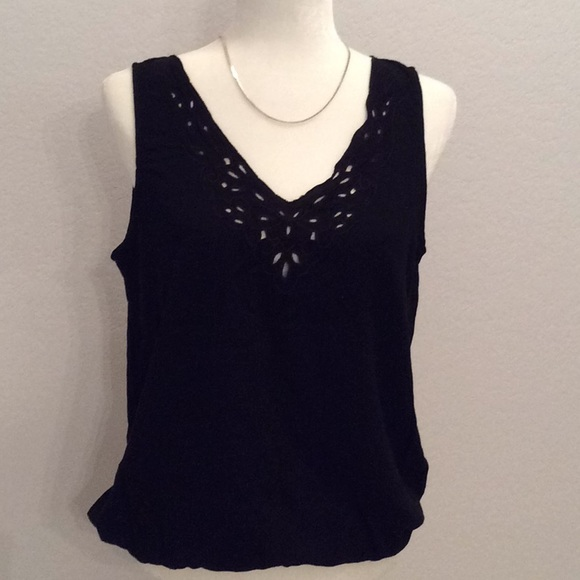 a.n.a. Embroidered Silky Top